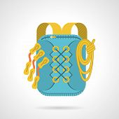 Flat vector icon for hike backpack