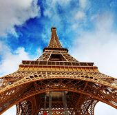 image of arch foot  - View at foot of Eiffel Tower - JPG