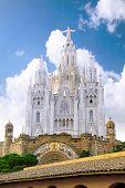 Temple On Mountain, Barcelona.spain