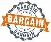 Bargain Orange Vintage Seal Isolated On White