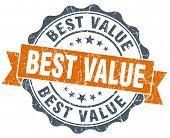 Best Value Orange Vintage Seal Isolated On White