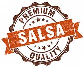 Salsa Brown Vintage Seal Isolated On White