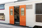 pic of gare  - Suburban railway train at the railways station - JPG