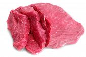 picture of boeuf  - Cut of beef steak on white - JPG