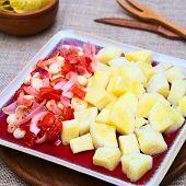 Cassava with Tomato, Corn and Onion