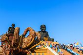 Luang Phor Tuad Buddha In Wat Huai Mongkhon Temple Hua Hin, Thailand.