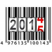 New Year counter, barcode, vector.