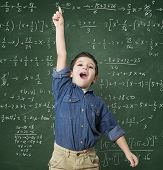 picture of mathematics  - Genius child solves a mathematical calculation difficult - JPG