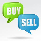 Buy and Sell Speech Bubble
