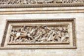 Moldings On The Arc De Triomphe. Paris. France.