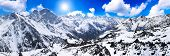 pic of toboggan  - Beautiful view of mountains in the Elbrus area - JPG