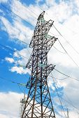 foto of transmission lines  - Power Transmission Line in outdoor land view - JPG