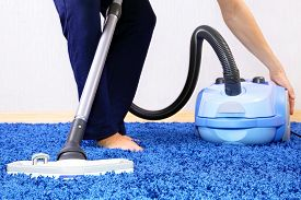 picture of sweeper  - Powelful vacuum cleaner in action - JPG