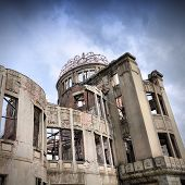 stock photo of bomb  - Hiroshima city in Chugoku region of Japan  - JPG