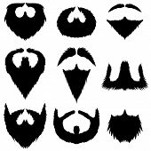 picture of rogue  - Mustaches and Beards Collection Isolated on White Background - JPG