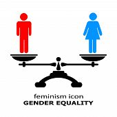 picture of equality  - Gender equality icon isolated on white background - JPG