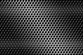 stock photo of metal grate  - illustration of a texture metal grill pierced - JPG