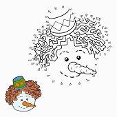 image of snowman  - Game for children - JPG