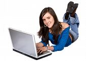 Casual Girl On A Laptop