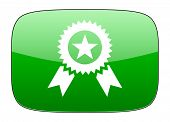 pic of prize  - award green icon prize sign  - JPG