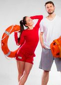 image of lifeguard  - Accident prevention and water rescue - JPG