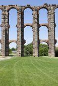 picture of aqueduct  - Roman Aqueduct of Merida Los Milagros - JPG