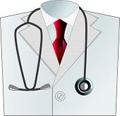 medical doctor white coat with stethoscope