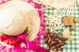 image of brazilian food  - Table with typical Brazilian Sweets for the famous Junina Party - JPG