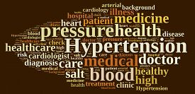 stock photo of hypertensive  - A illustration with word cloud about hypertension - JPG