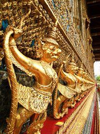 stock photo of garuda  - Golden Garuda in Thailand  - JPG