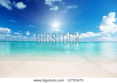 Постер, плакат: песок и Карибского моря, холст на подрамнике