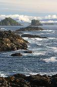 rocky shore crashing waves vancouver