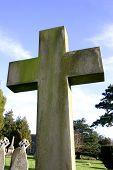 Stone Crucifix In Church Yard