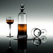 Cognac In eine Karaffe