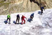 Eis Klettergruppe