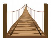 Wooden Bridge - Vector