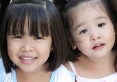 Sisters - Asian Children