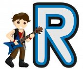 Alphabet Kids (Rock Star) - Vector