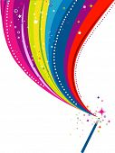 picture of magic-wand  - Wand Rainbow Design  - JPG