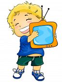I love TV - Vector