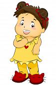 Young Girl in PJs - Vector