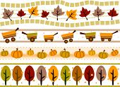 Herfst grens Set - Vector