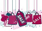 Shopping Sale on Strings - Vector