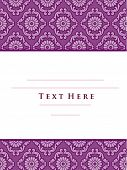 Invitation with Damask Patterns - Vector