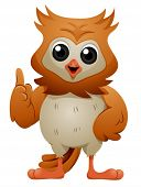Talking and Gesturing Owl - Vector