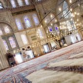 Interior of the Blue mosque - Sultanahmet mosque