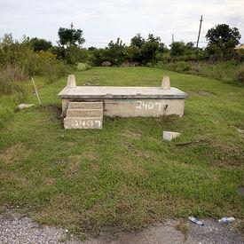 stock photo of katrina  - House foundation after Hurricane Katrina - JPG