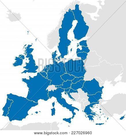 European Union Countries Political Map