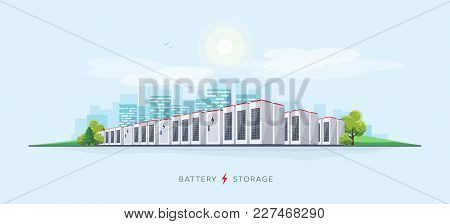 Vector Illustration Of Large Rechargeable