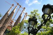 BARCELONA SPAIN - JULY 21: La Sagrada Familia - the cathedral designed by Antoni Gaudi, which is bei